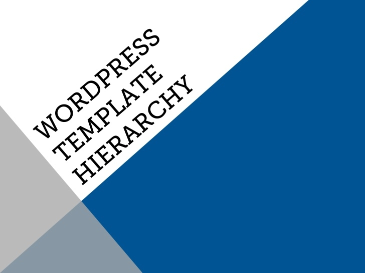 wordpress-template-hierarchy